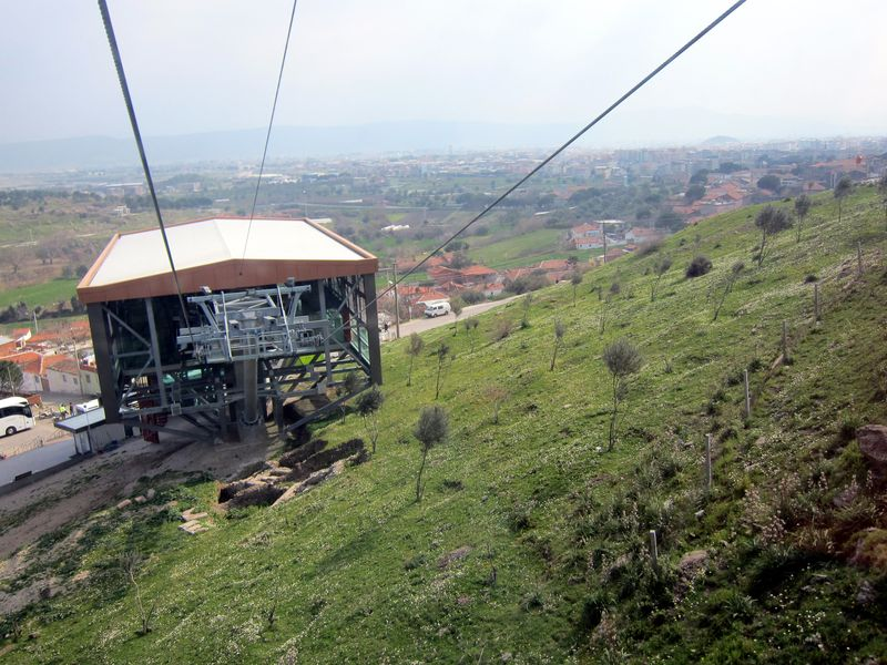Cable car in Bergama