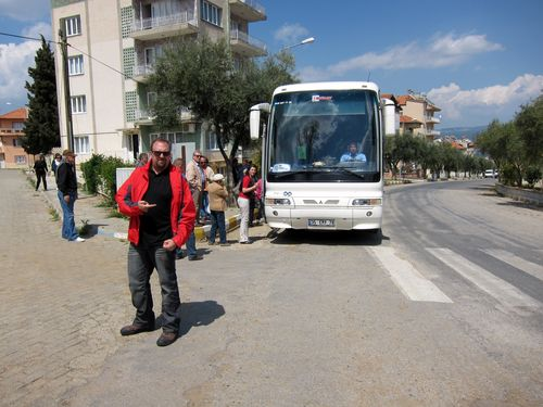Tour bus in Turkey