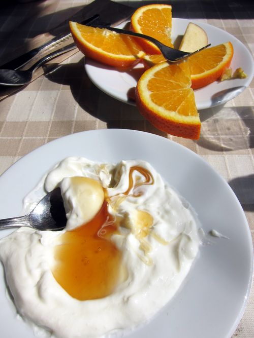 Yogurt with honey and orange