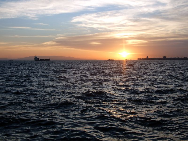 Sunset on the Aegean