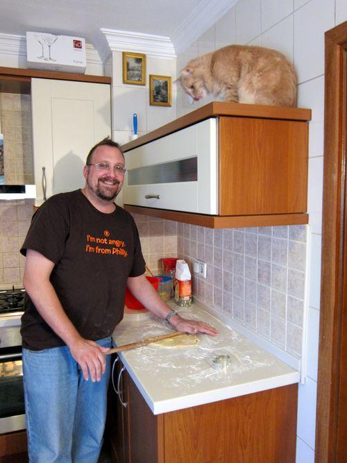 Frankie in the kitchen