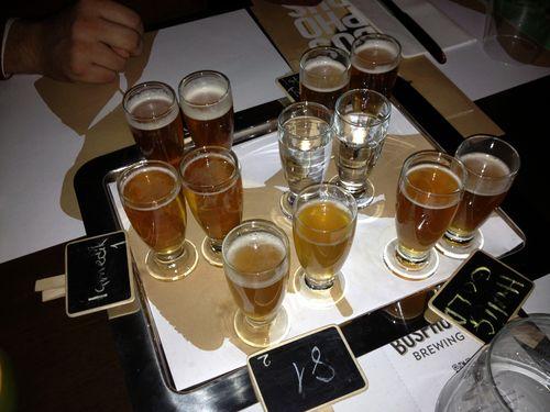 Bosphorus Brewing Company Istanbul sampler